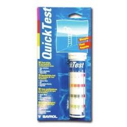 Quicktest, pH, klór, Algicid,alk. tesztcsík