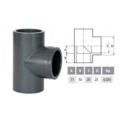 PVC T-idom D20 90°