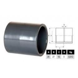PVC toldó idom D20