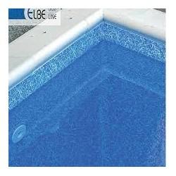 ELBTAL típusú medencebélelő fólia Kék márvány 165 cm széles